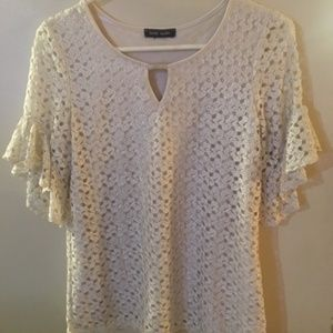 Brody Myles off white lace top size s